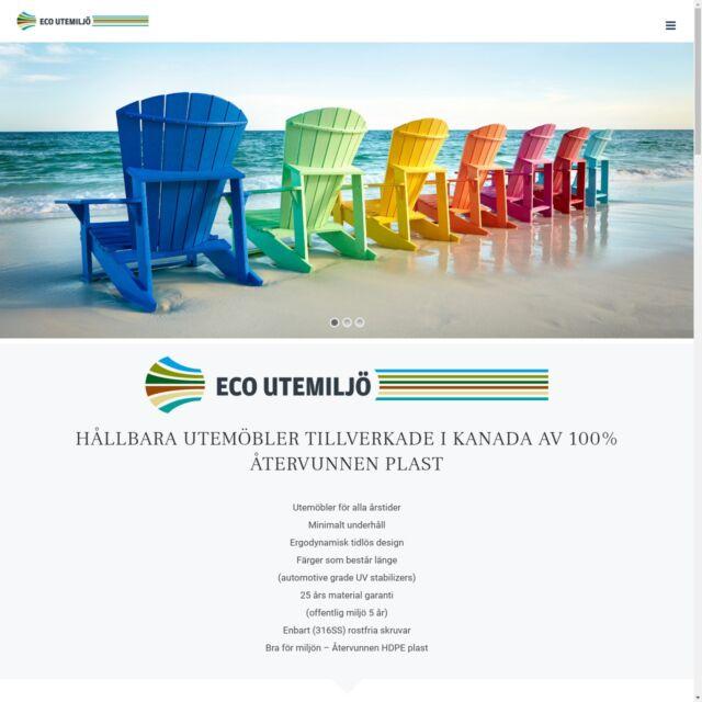Hemsida för Eco Utemiljö