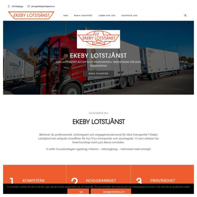 Ny hemsida för Ekeby Lotstjänst AB