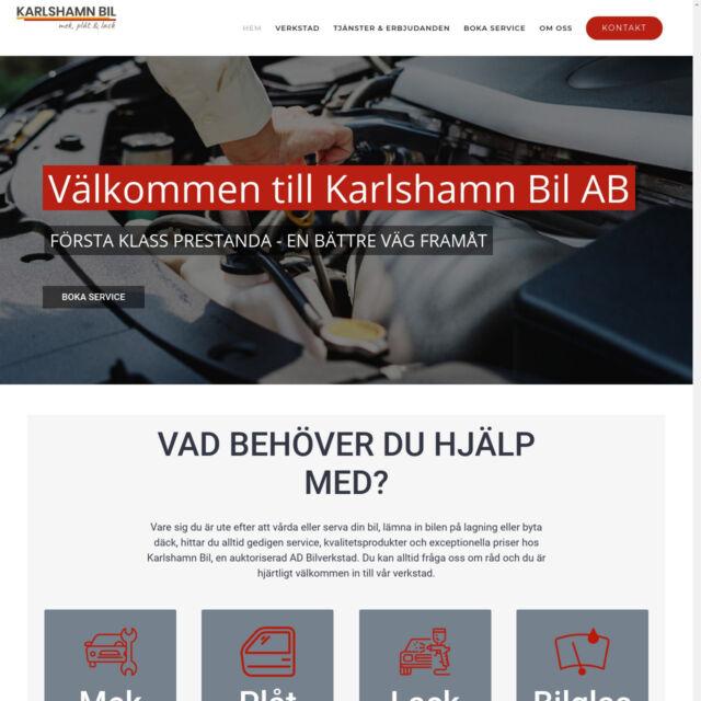 hemsida för Karlshamn Bil AB